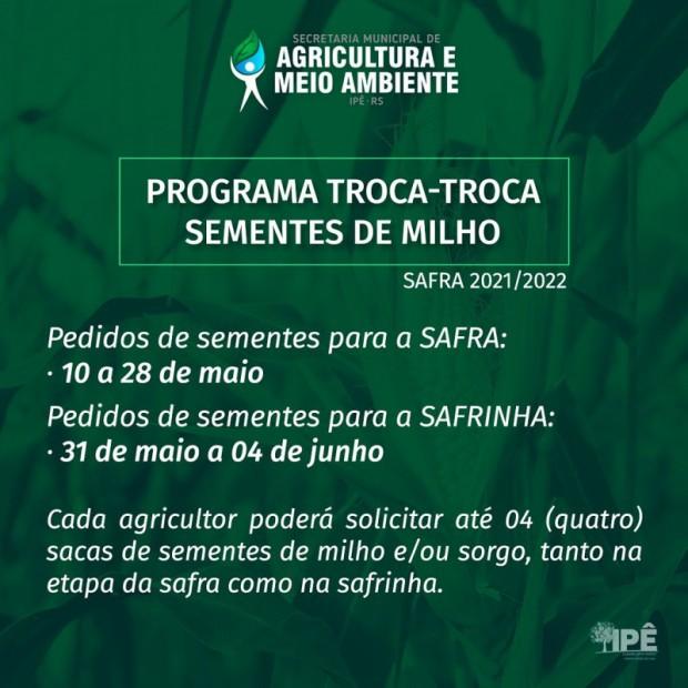 Foto de capa da notícia: INICIADO O PROGRAMA TROCA-TROCA DE SEMENTES DE MILHO