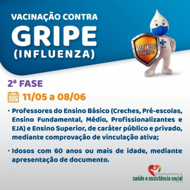 Foto de capa da notícia: INICIA HOJE A 2ª FASE DA VACINAÇÃO CONTRA A GRIPE INFLUENZA