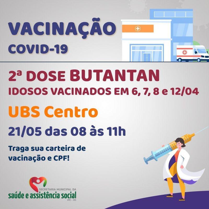Foto de capa da notícia IDOSOS VACINADOS EM 6,7,8 e 12/04 RECEBEM 2ª DOSE NESTA SEXTA!