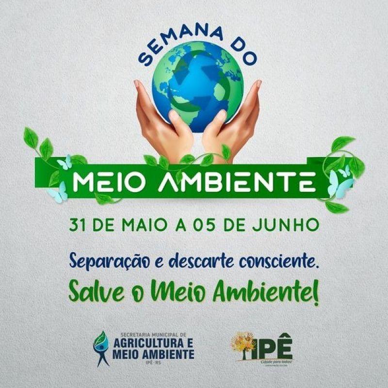 Foto de capa da notícia VEM AÍ A SEMANA DO MEIO AMBIENTE