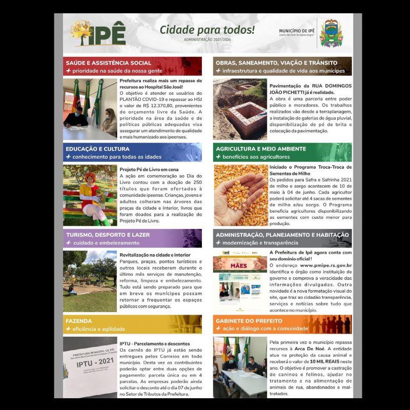 Foto de capa da notícia INFORMATIVO DA PRESTAÇÃO DE CONTAS DA ADMINISTRAÇÃO MUNICIPAL