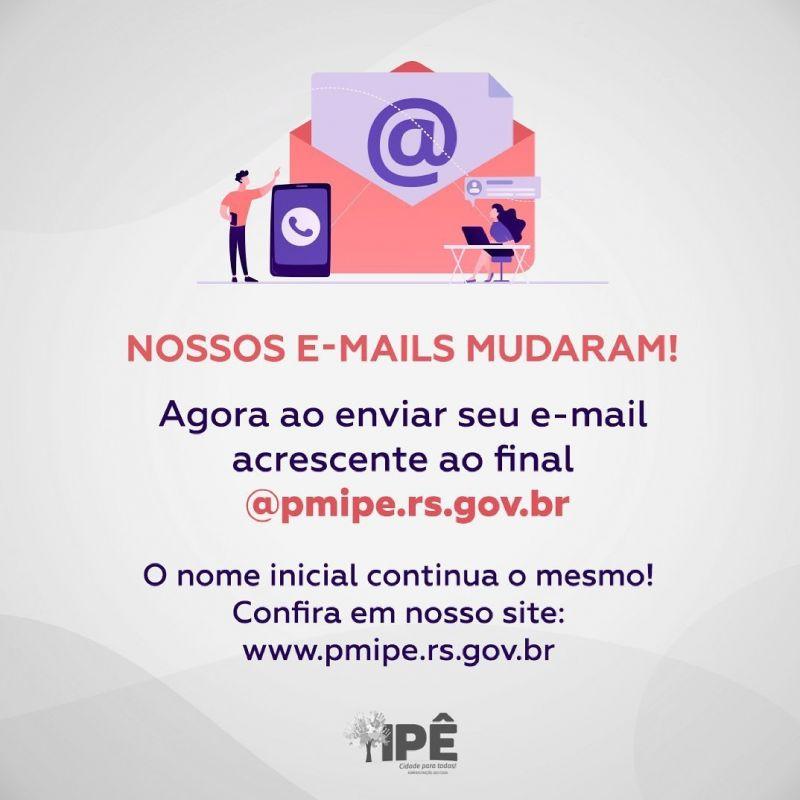 Foto de capa da notícia NOSSOS E-MAILS MUDARAM