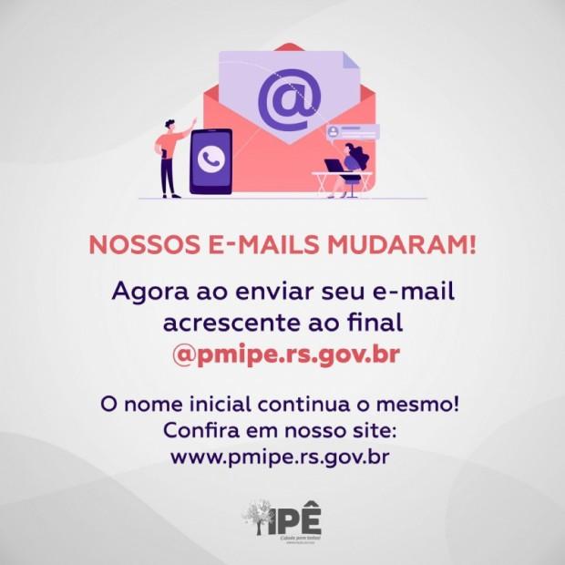 Foto de capa da notícia: NOSSOS E-MAILS MUDARAM