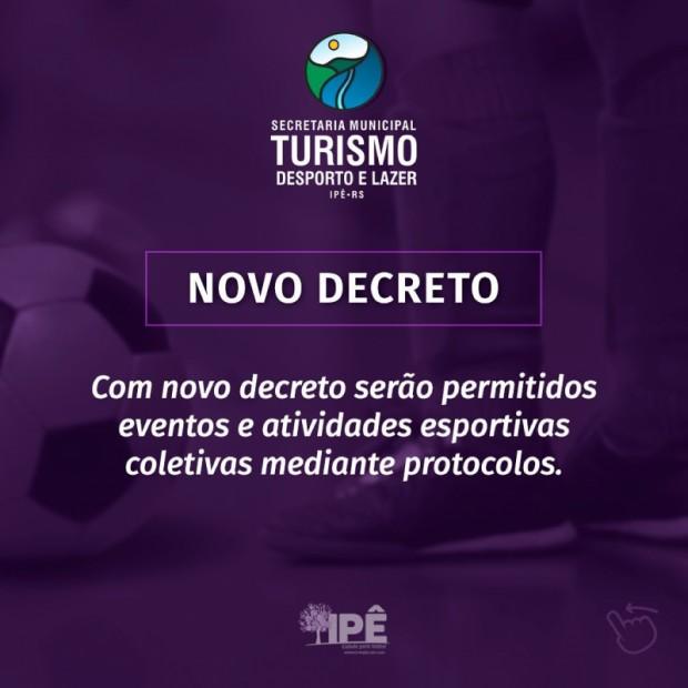 Foto de capa da notícia: EVENTOS E ATIVIDADES ESPORTIVAS COLETIVAS SÃO RETOMADOS