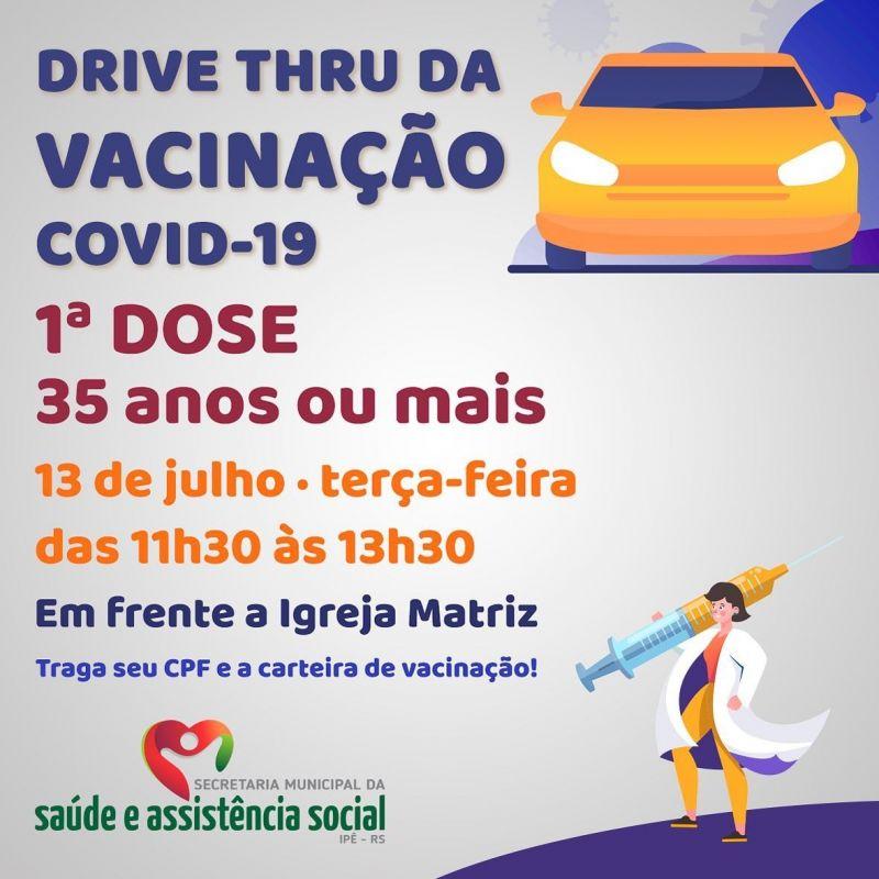 Foto de capa da notícia DRIVE THRU PARA ADULTOS ACIMA DE 35 ANOS ACONTECE NESTA TERÇA