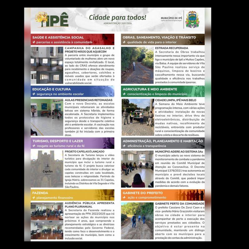 Foto de capa da notícia NFORMATIVO DA ADMINISTRAÇÃO MUNICIPAL