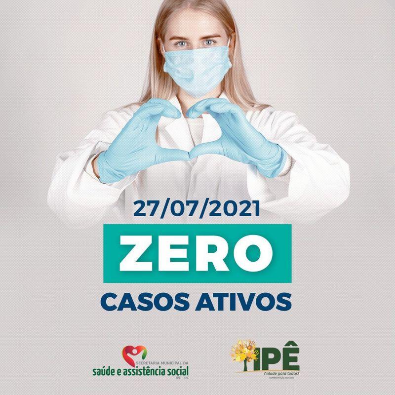 Foto de capa da notícia CASOS ATIVOS ZERADOS EM IPÊ