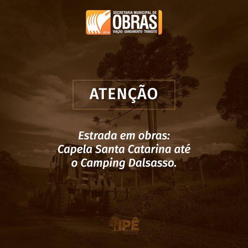 Foto de capa da notícia ATENÇÃO!!! ESTRADAS EM OBRAS!