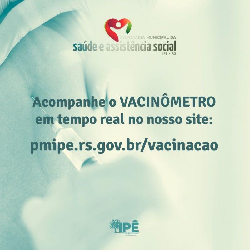 Foto de capa da notícia VACINÔMETRO EM TEMPO REAL