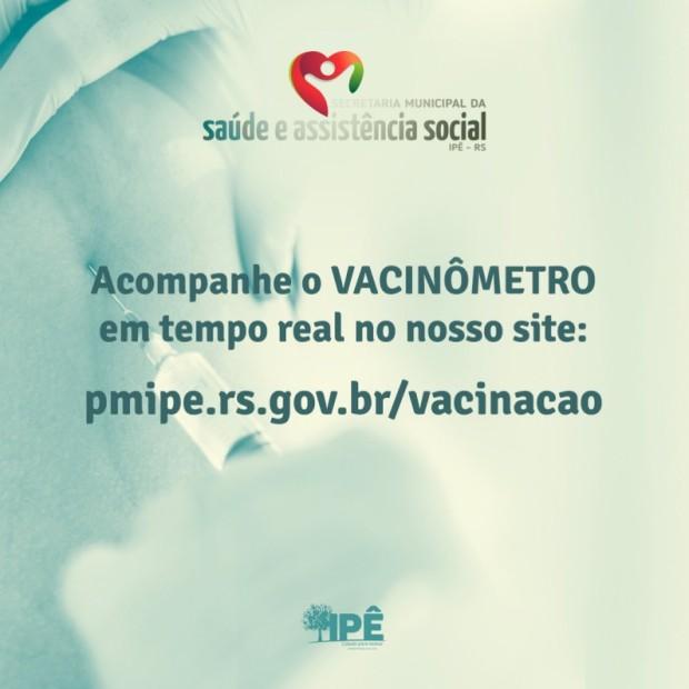 Foto de capa da notícia: VACINÔMETRO EM TEMPO REAL