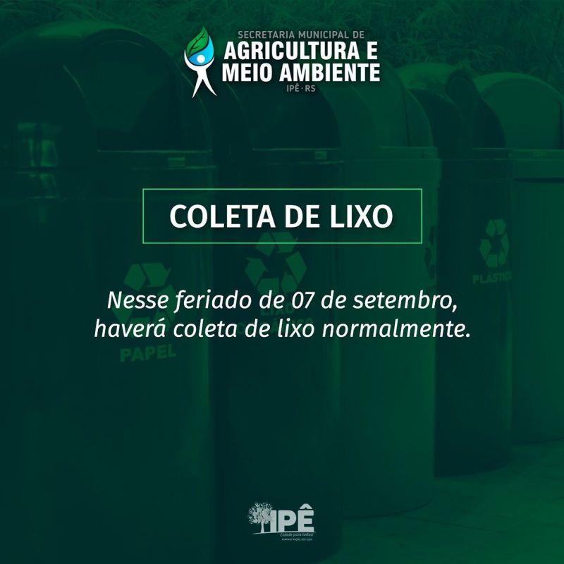 Foto de capa da notícia ATENÇÃO PARA A COLETA DE LIXO