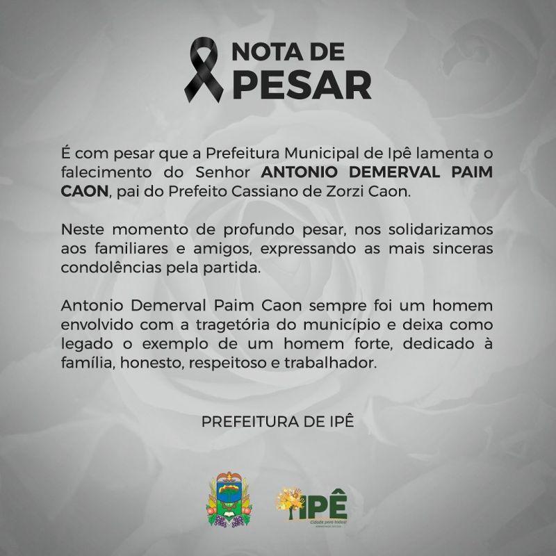 Foto de capa da notícia NOTA DE FALECIMENTO