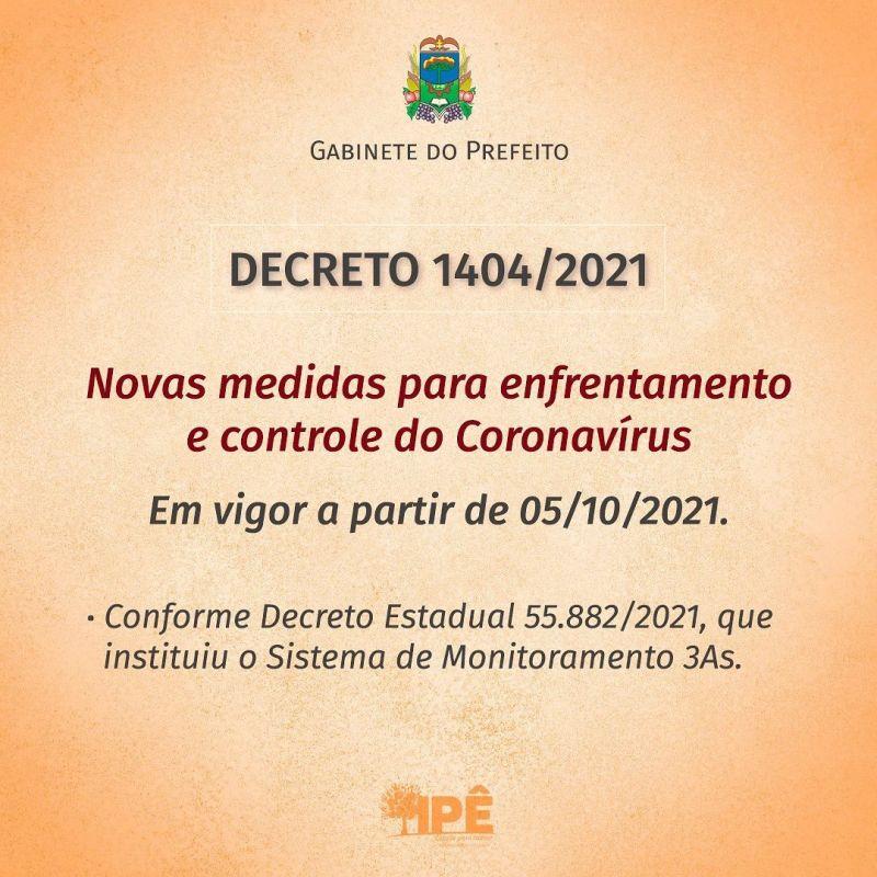 Foto de capa da notícia NOVO DECRETO COM MEDIDAS DE COMBATE AO COVID-19 VIGORA A PARTIR DE 05 DE OUTUBRO