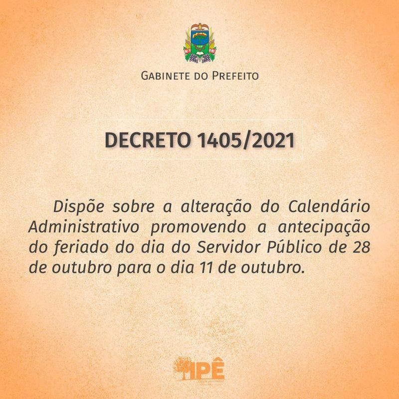 Foto de capa da notícia DECRETO ANTECIPA FERIADO DO DIA DO SERVIDOR PÚBLICO
