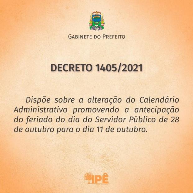 Foto de capa da notícia: DECRETO ANTECIPA FERIADO DO DIA DO SERVIDOR PÚBLICO