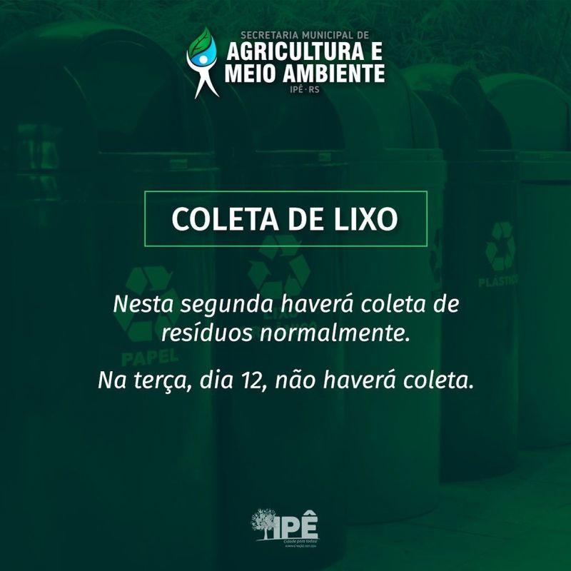 Foto de capa da notícia: ATENÇÃO PARA A COLETA DE LIXO NESTE FERIADO!