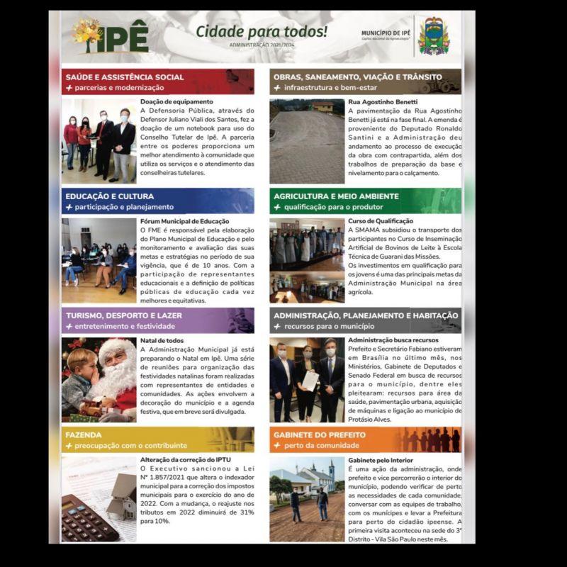 Foto de capa da notícia: INFORMATIVO DA ADMINISTRAÇÃO MUNICIPAL