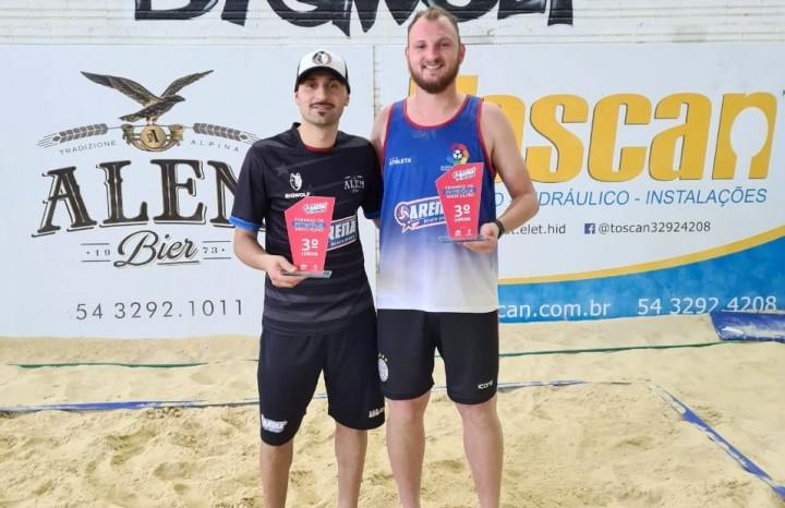 Lucas Barcaro e Nathan Menegat ficaram com a 3º lugar