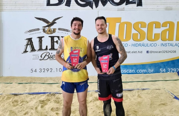 Diego Morales e Michel ficaram com o título