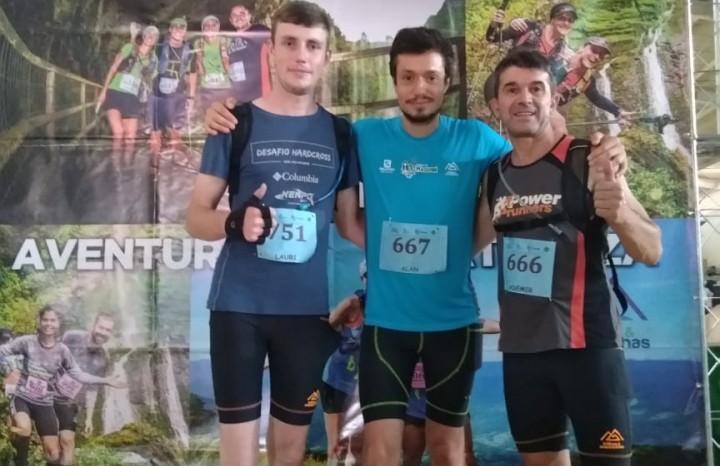 Lauri Kamchen, Álan Novello e Ademir Polo numa das etapas do CTM em 2019