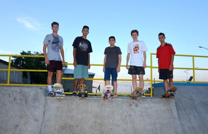 Os skatistas Guilherme Salvador, Natanael Oliveira, Guilherme da Rosa, Daniel Schiavenin e Gabriel Rodrigues já testaram a nova pista