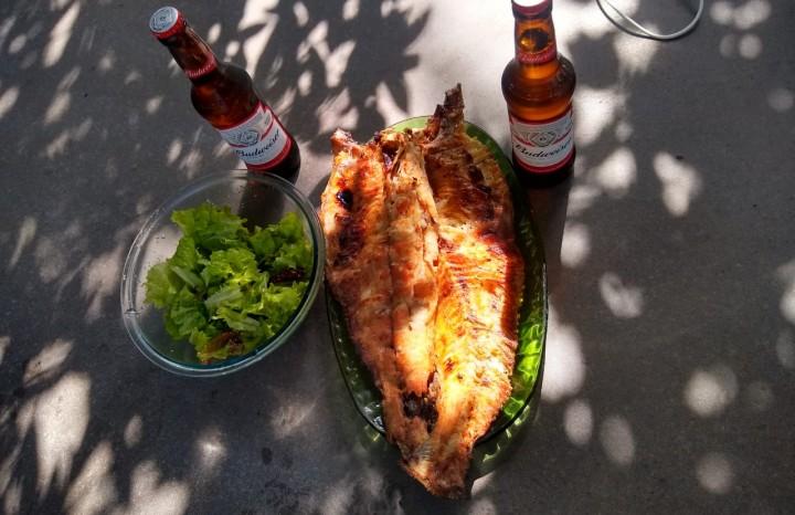 Tradicional prato da Lancheria Cantinho do Peixe