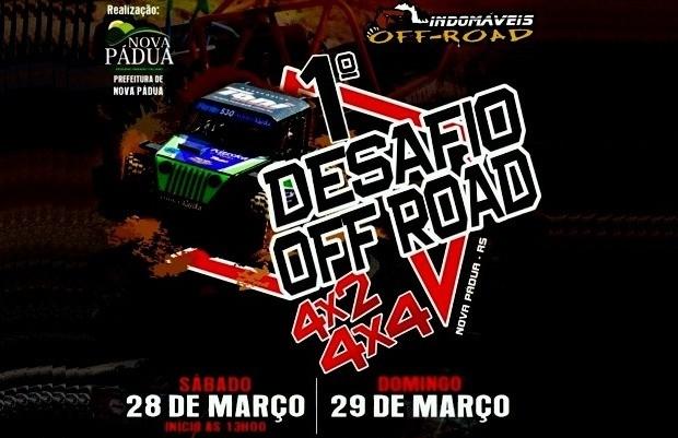 1º Desafio Off Road promete agitar o público em Nova Pádua