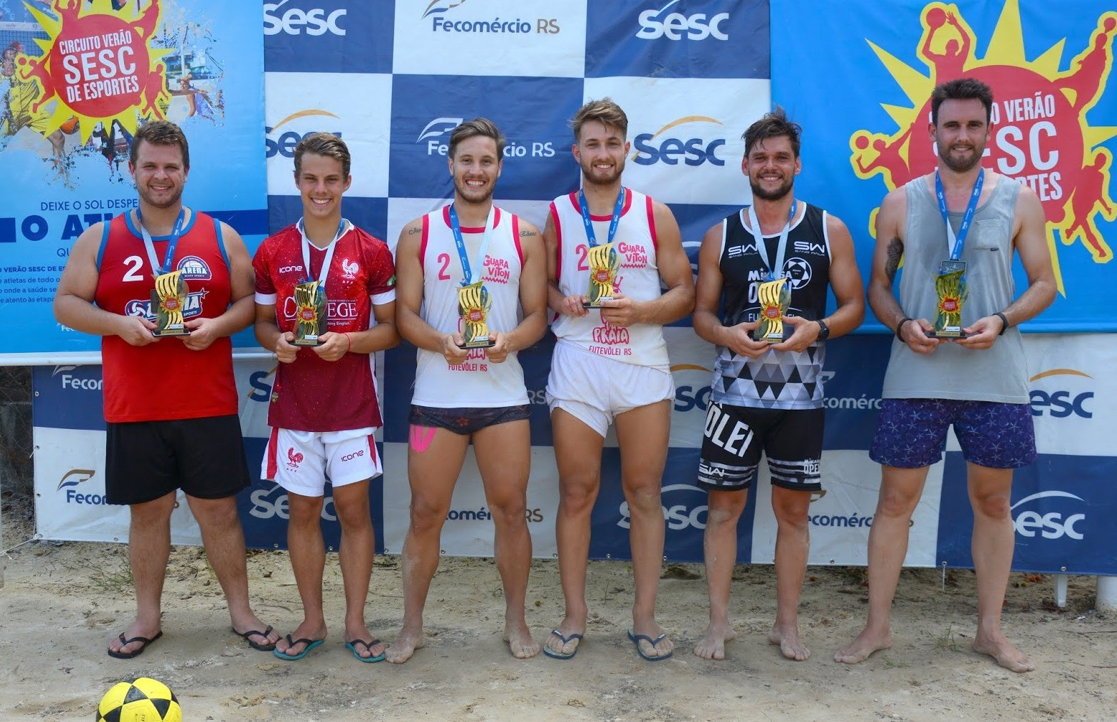 Maico e Renan conquistam o título do torneio de futevôlei de Nova Pádua