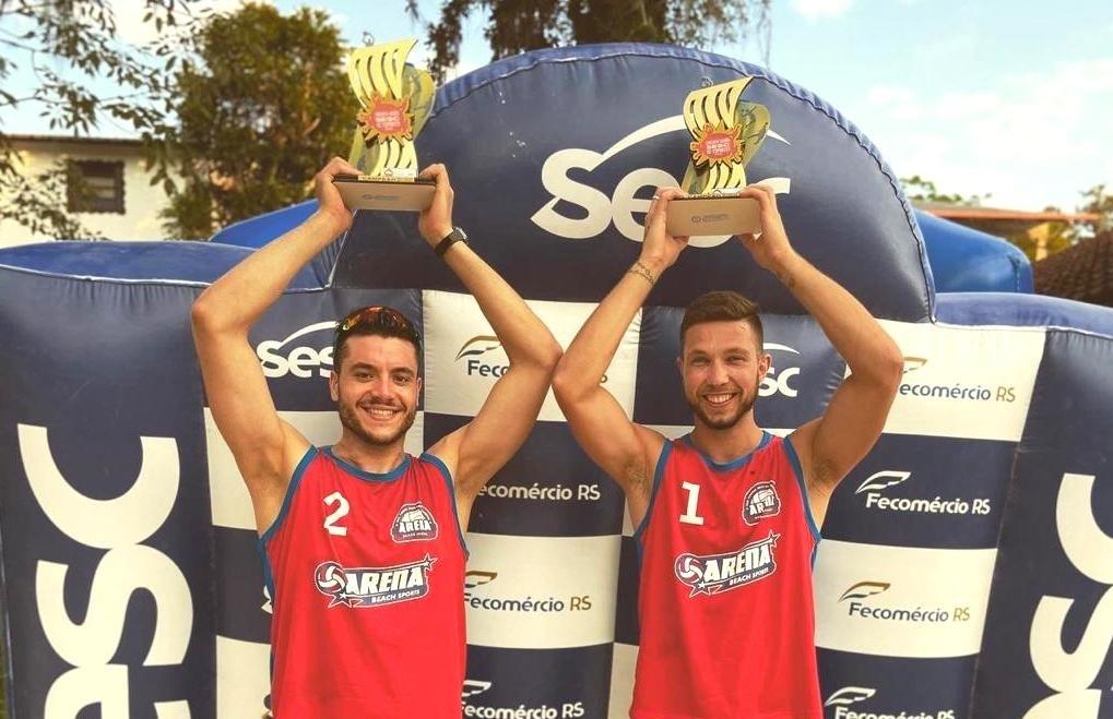 Claudio e Eduardo vencem etapa SESC Nova Petrópolis do vôlei de praia