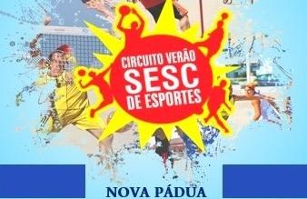 Torneio de futevôlei masculino de Nova Pádua acontece em fevereiro