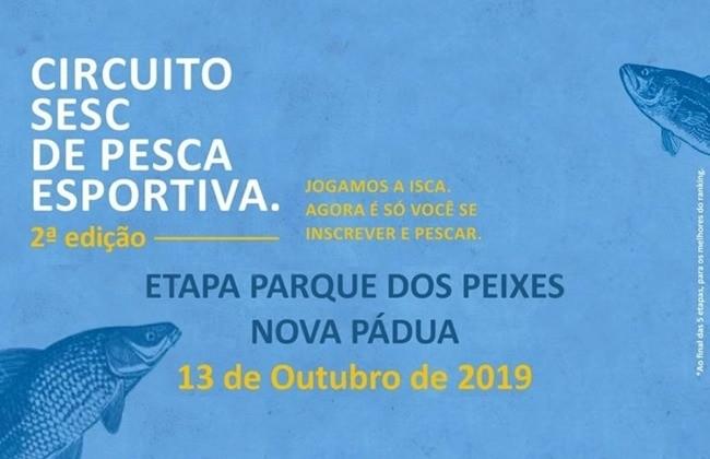 Nova Pádua sediará 2ª edição do Circuito SESC de Pesca Esportiva