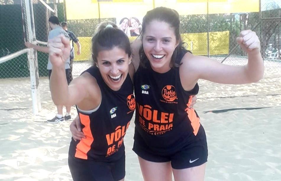 Aline e Kelen conquistam etapa estadual do vôlei de praia da AABB
