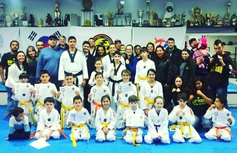 CTR-GAT TEAM realizou o Exame de Faixa do Taekwondo e Muaythai
