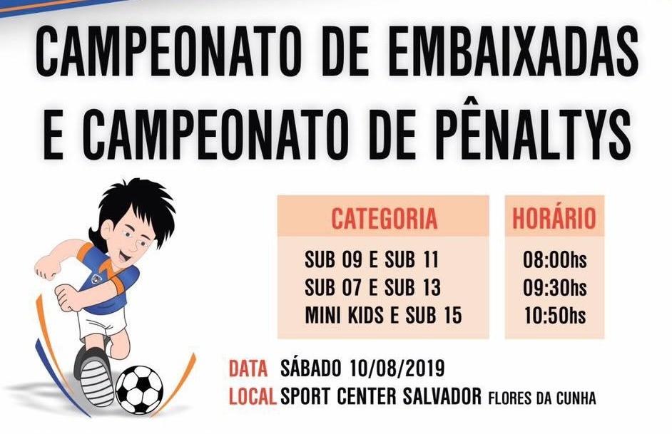 FC Iniciação Esportiva de Flores da Cunha realiza o tradicional campeonato de embaixadas e pênaltis