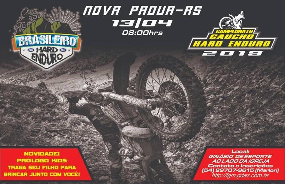 Nova Pádua vai sediar a abertura do Brasileiro de Hard Enduro 2019 neste final de semana