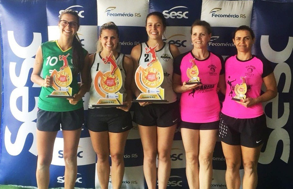 Definidos os vencedores do futevôlei e vôlei de praia do Circuito SESC de Flores da Cunha