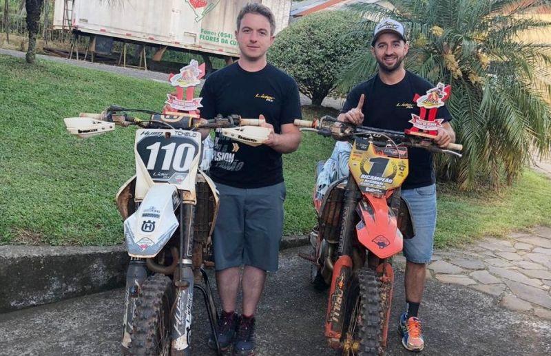 """Irmãos Galiotto e """"Bibit"""" conquistam três títulos do Campeonato Regional de Motocross"""