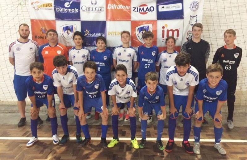 ATE/FC 2 Sub 13 vence o confronto caseiro e defenderá o título da Copa Sortica de Futsal