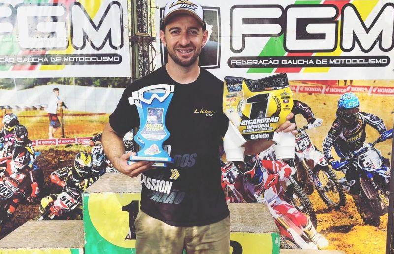 Rodrigo Galiotto é bicampeão do Regional de Motocross na MX2 e Força Livre Importada