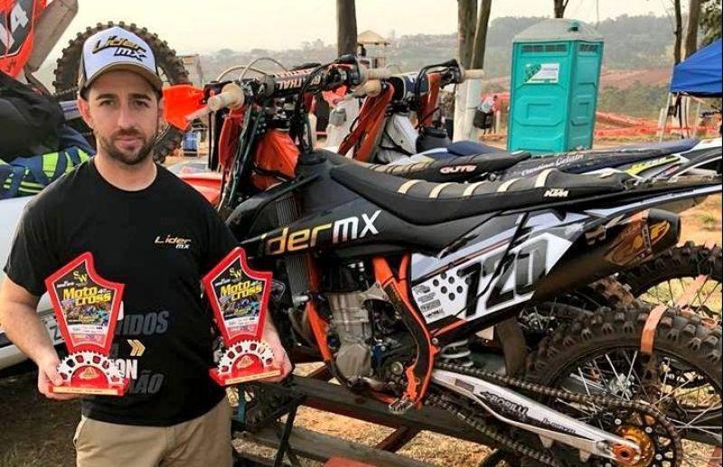 Galiotto e Menegat lideram as categorias do Regional de Motocross