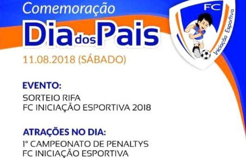 FC Iniciação Esportiva terá campeonato de embaixadas, pênaltis e sorteio da rifa