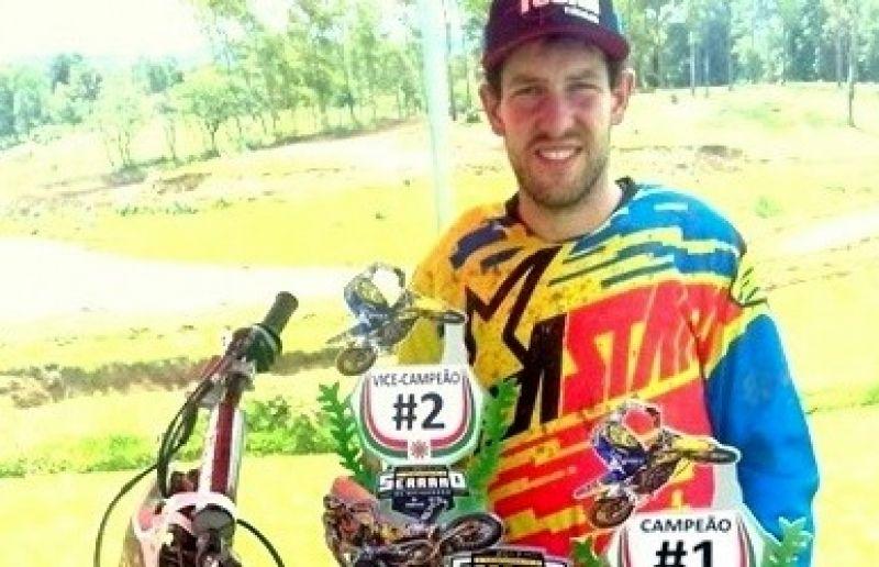 Piloto de Nova Pádua é campeão do Serrano de Motocross na categoria MX2