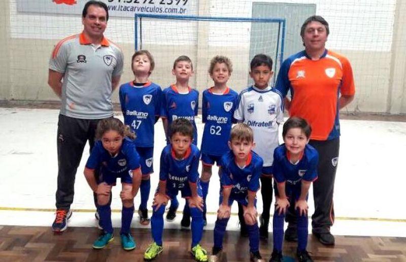 ATE/FC Iniciação Esportiva vence 4 jogos na 3ª rodada da Copa Sortica de Futsal