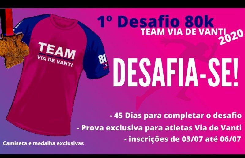 Foto 1º Desafio 80 km Team Via de Vanti 2020