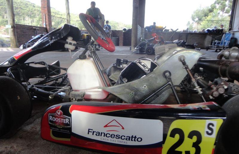 Treino para a 3ª etapa do Serrano de Kart