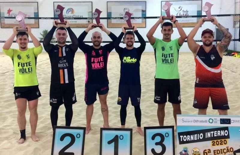 Ortiz e Sacarol vencem categoria bronze do torneio interno de futevôlei da Fiorio