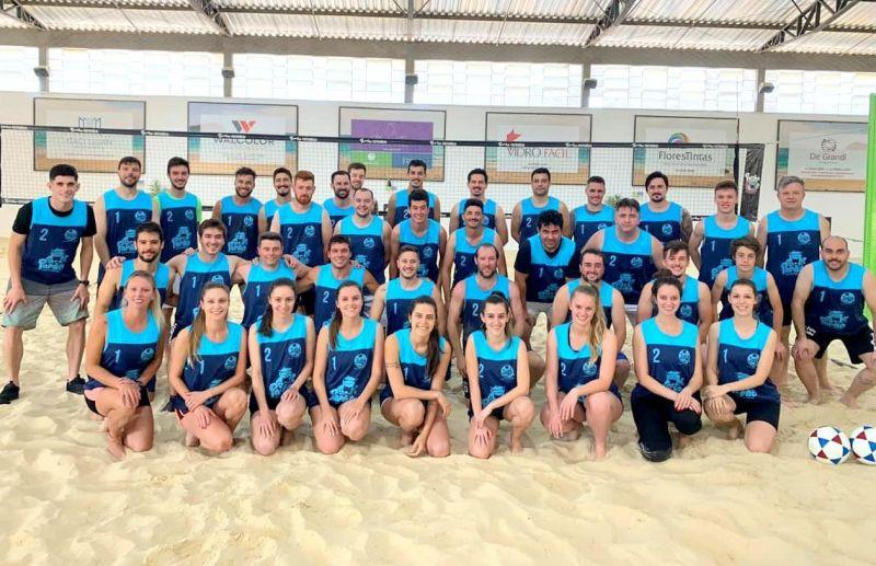 Futevôlei de alto nível na Fiorio Esportes de Areia & Funcional