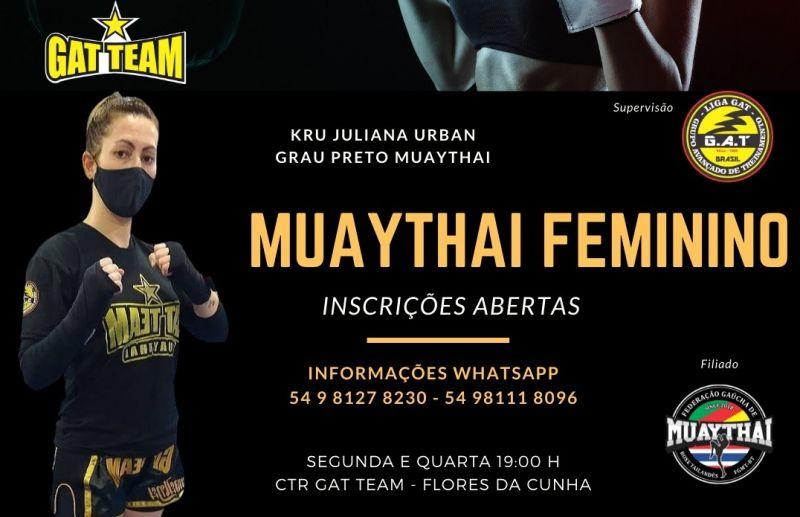CTR GAT TEAM abre inscrições para aulas de Muaythai Feminino