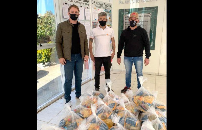 Equipe de Hard Enduro de Nova Pádua doa cestas básicas ao Hospital Fátima