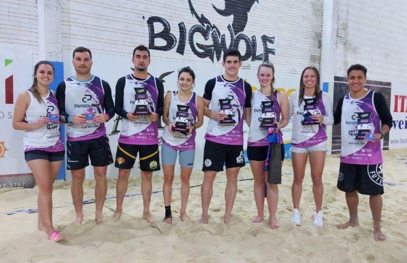 Letícia e Nico vencem a categoria misto do futevôlei da Arena Beach Sports